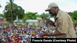 Freeman Mbowe, lors d'un meeting politique à Dar es Salaam, en Tanzanie. (Francis Dande /Courtesy Photo)