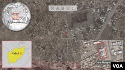 Peta lokasi rumah sakit Cure di Kabul