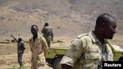 Baadhi ya wanajeshi wa Sudan wakiwa katika lindo