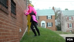Lightning Bolt Lady tries to walk through a brick wall...but can she?