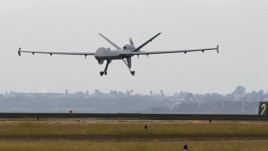 File photograph of a Predator B unmanned aircraft similar to U.S. drones used in Yemen.