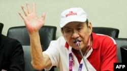 Michael Bambang Hartono, pemilik Grup Djarum, saat mengumumkan keikutsertaannya di tim bridge Indonesia untuk berlaga di Asian Games, 11 Agustus 2018.