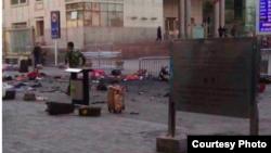 新疆烏魯木齊火車站發生爆炸事件(照片來自網絡)