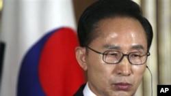 韩国总统李明博(资料图)
