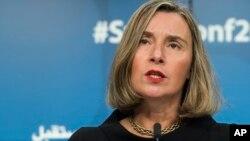 페데리카 모게리니 EU 외교·안보 고위대표.