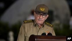 Lãnh đạo Cuba Raúl Castro phát biểu tại một sự kiện hồi tháng 1/2019
