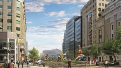 An artist's version of the New York Avenue Project with sculpture by Niki de Saint Phalle