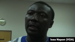 Le docteur Brice Bicaba, à Ouagadougou, le 23 juillet 2017. (VOA/Issa Napon)