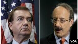 اد رویس (چپ) و الیوت انگل از اعضای ارشد مجلس نمایندگان آمریکا
