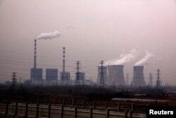 중국 산둥성 지난의 화력발전소.