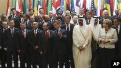 지난 1일 프랑스 파리에서 열린 리비아 재건 회의