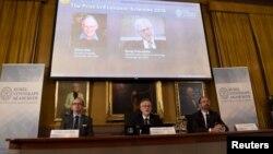 سخنگویان آکادمی سلطنتی سوئد برندگان نوبل اقتصاد را معرفی کردند.