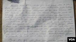 Carta de Nito Alves
