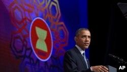 အေမရိကန္ သမၼတ Barack Obama ၂၀၁၅ အာဆီယံ ထိပ္သီးညီလာခံ တက္ေရာက္ခဲ့စဥ္။
