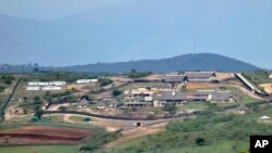 FILE - A Sept. 28, 2012, photo shows the private homestead of South African President Jacob Zuma in Nkandla, in the northern KwaZulu Natal province South Africa.