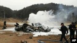 Trực thăng CH-53E bốc cháy sau khi những người trên máy bay được di tản.