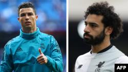 Cristiano Ronaldo et Mohamed Salah