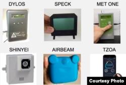 各种轻便的检测空气污染装置