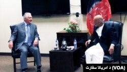 Rex Tillerson meets President Ashraf Ghani in Kabul
