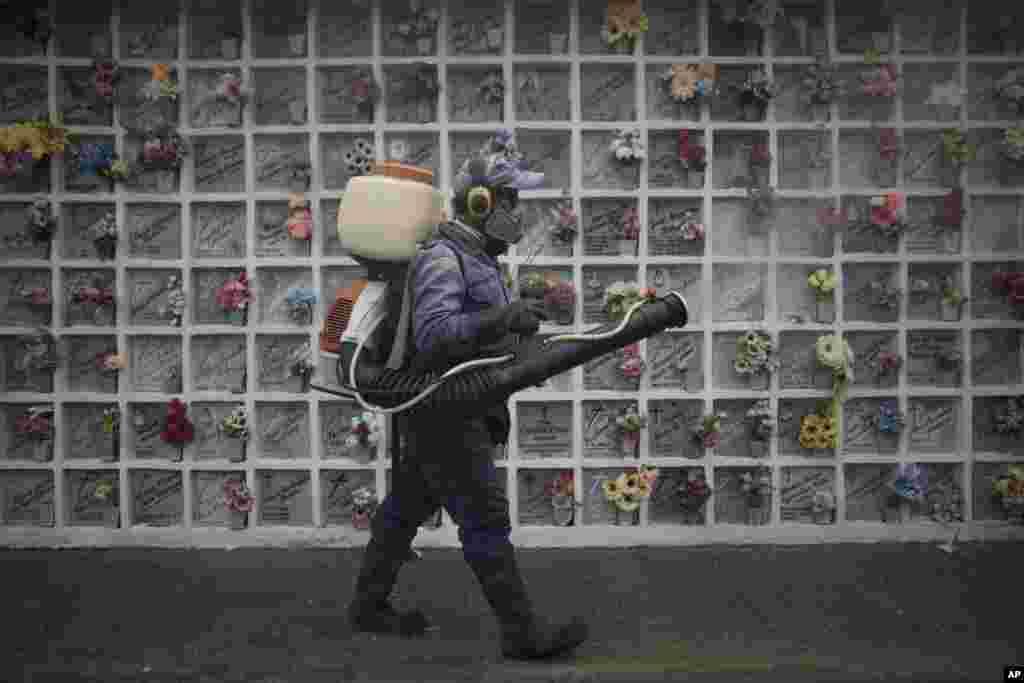 Dezinfeksiya jarayoni. Kolumbiya.