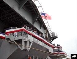 航母水兵加强安保