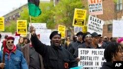Ratusan Protes Kematian Tahanan Kulit Hitam di Baltimore