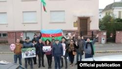 Strasburqda Azərbaycan nümayəndəliyi qarşısında etiraz aksiyası keçirilib