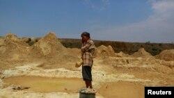 copper mining dump in Sarlingyi township at Sagaing division