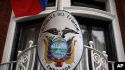 Kedutaan Besar Ekuador di London, Inggris di mana Julian Assange minta perlindungan politik (foto: dok).