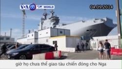 Pháp chưa thể giao tàu chiến đóng cho Nga (VOA60)
