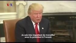 """Trump se dit impatient de recevoir """"les conseils"""" d'Obama (Vidéo)"""