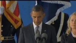 在利比亚遇害美国人灵柩运回美国