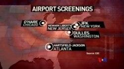 2014-10-12 美國之音視頻新聞: 美國開始在機場對旅客進行伊波拉篩查