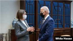 President Joe Biden Met with Sviatlana Tsikhanouskaya at the White House