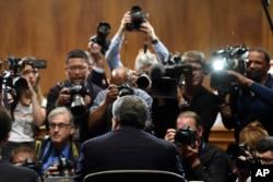 Sekretar za pravosuđe Vilijem Bar tokom svedočenja pred Senatovim Komitetom za pravosuđe u Vašingtonu, 1. maja 2019.