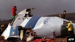 Фрагменты взорванного лайнера авиакомпании Pan Am. Локерби, Шотландия декабрь 1988г.