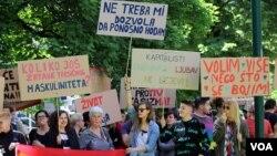 Arhiv - Protestni skup LGBT osoba u Sarajevu, maj 2017.
