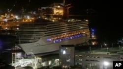 Kapal pesiar Carnival Triumph tiba di pelabuhan Mobile, Alabama (14/2).