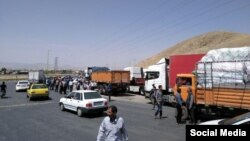اعتصاب رانندگان کامیون در ایران در روزهای گذشته