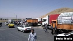 اعتصاب کامیونداران در ایران