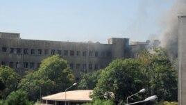 Dim iznad štaba vojne komande u Damasku