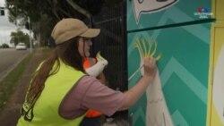 Նկարիչները օգնել են Բրիսբանի փողոցները վերածել հանրային գունավոր պատկերասրահների