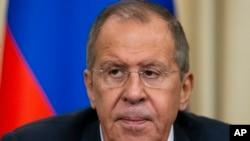 Arhiva - Ministar inostranih poslova Rusije Sregej Lavrov tokom konferencije u Moskvi, 6. novembra 2019.