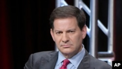 "FILE - Mark Halperin participates in a panel discussion during the Showtime Critics Association summer press tour in Beverly Hills, Calif., Aug. 11, 2016. The veteran journalist is apologizing for what he termed ""inappropriate"" behavior."