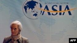 Tổng giám đốc IMF Christine Lagarde tại Diễn đàn Châu Á Bác Ngao, 7/4/13