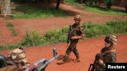 Des militaires français à Bambari, en Centrafrique (Reuters)