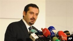 Lebanese Prime Minister Saad Hariri (file photo)