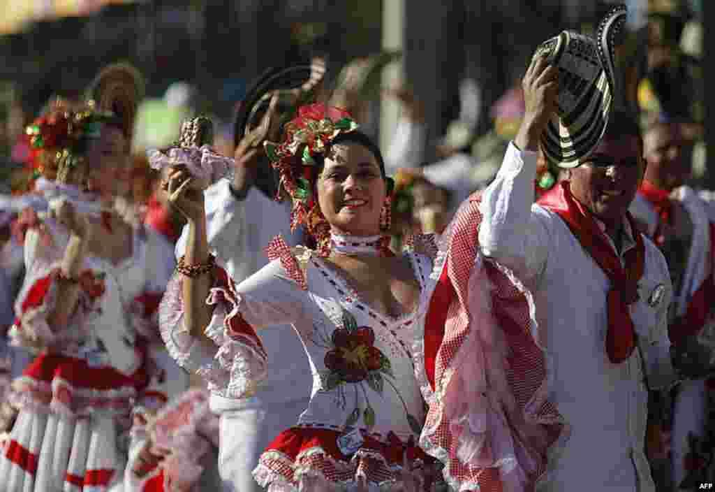 Карнавал у місті Барранкілья, північна Колумбія.