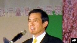 台灣總統馬英九2月3日在一個關於旅遊記者會上的資料照片