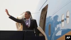 29일 마지막 방문지인 사우디아라비아를 떠나는 오바마 대통령